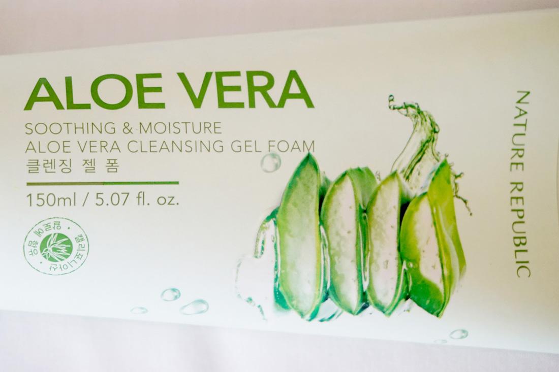 Nature Republic Aloe Vera Cleansing Gel Foam Alyssa Alumno Cleanser 2